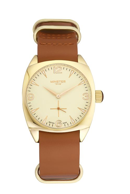 Minster Burlingham Men's Gold-plated Round Strap Watch - Product number 4230485