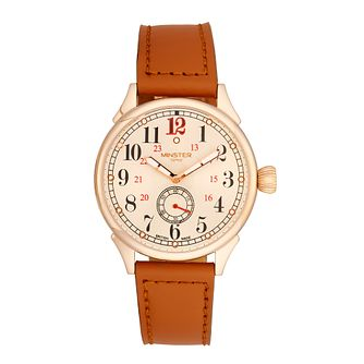Minster Boyland Men's Rose Gold-plated Strap Watch - Product number 4230744