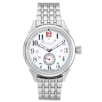 Minster Boyland Men's Stainless Steel Round Bracelet Watch - Product number 4230795