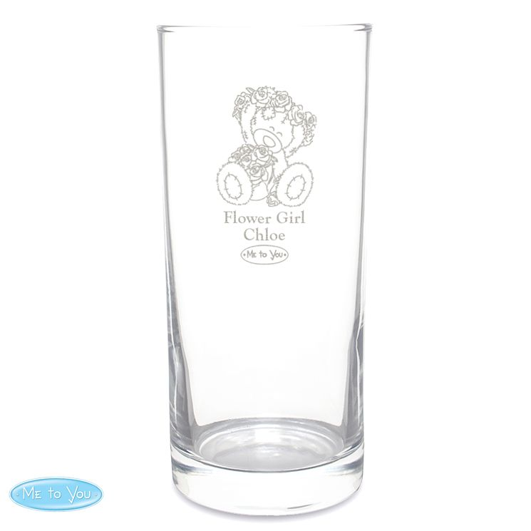 Engraved Me To You Wedding Flower Girl Hi Ball Glass - Product number 4232364