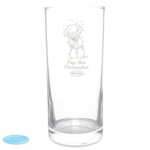 Engraved Me To You Wedding Page Boy Hi Ball Glass - Product number 4232372