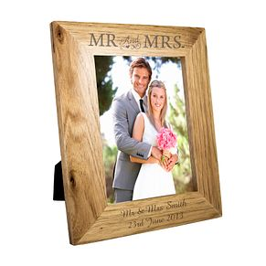 Personalised 5x7 Mr & Mrs Wooden Frame - Product number 4232410