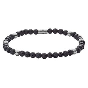 Fossil Vintage Men's Black Bead Bracelet - Product number 4237633