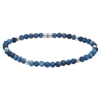 Fossil Vintage Men's Blue Bead Bracelet - Product number 4237676