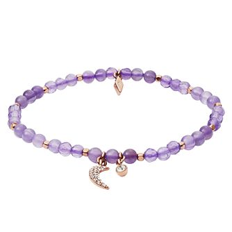 Fossil Ladies' Rose Gold Tone Amethyst Wellness Bracelet - Product number 4237765
