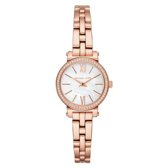 Michael Kors Sofie Ladies' Rose Gold Tone Bracelet Watch - Product number 4239326