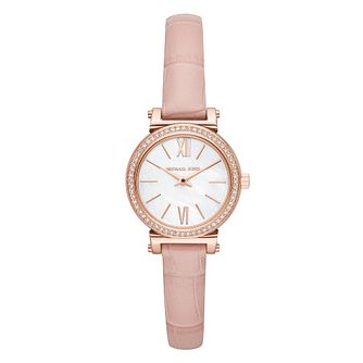 Michael Kors Sofie Ladies' Rose Gold Tone Pink Strap Watch - Product number 4239369