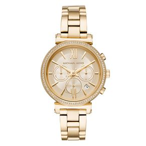 Michael Kors Sofie Ladies' Yellow Gold Tone Bracelet Watch - Product number 4239393