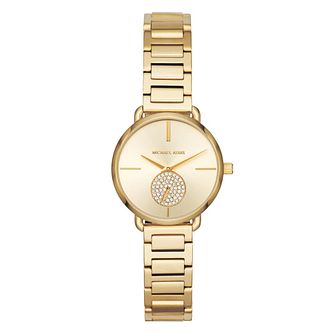 Michael Kors Portia Ladies' Mini Yellow Gold Tone Watch - Product number 4239628