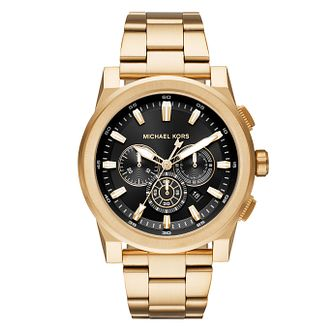 Michael Kors Grayson Men's Yellow Gold Tone Bracelet Watch - Product number 4240065