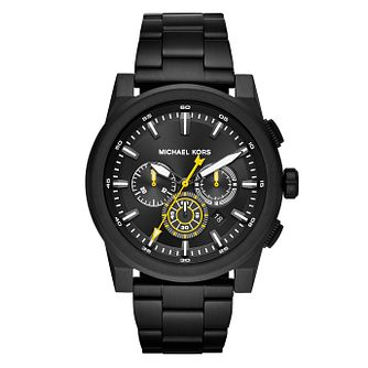 Michael Kors Grayson Men's Black Ion Plated Bracelet Watch - Product number 4240073