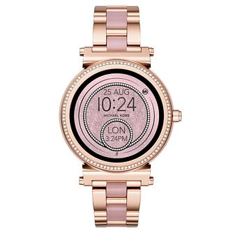Michael Kors Access Sofie Ladies' Rose Gold Tone Smartwatch - Product number 4240294