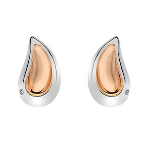 Hot Diamonds Silver & Rose Gold Droplet Stud Earrings - Product number 4241754