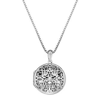 Hot Diamonds Sterling Silver Filigree Round Locket - Product number 4241770