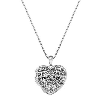 Hot Diamonds Sterling Silver Filigree Heart Locket - Product number 4241932