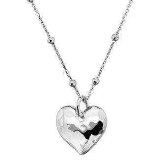 Hot Diamonds Sterling Silver Textured Heart Pendant - Product number 4241967