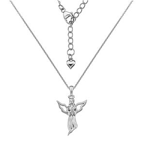 Lily & Lotty Silver Rhodium Plated Guardian Angel Necklace - Product number 4242122