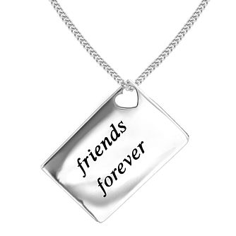 Lily & Lotty Silver Rhodium Plated 'Friends Forever' Pendant - Product number 4243846