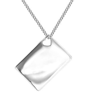 Lily & Lotty Silver Rhodium Plated Blank Envelope Pendant - Product number 4244222