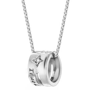 Lily & Lotty Silver Rhodium Plated 'True Love' Necklace - Product number 4244397