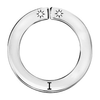 Lily & Lotty Silver Rhodium Plated 'I' Pendant - Product number 4244516