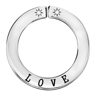 Lily & Lotty Silver Rhodium Plated 'Love' Pendant - Product number 4244532