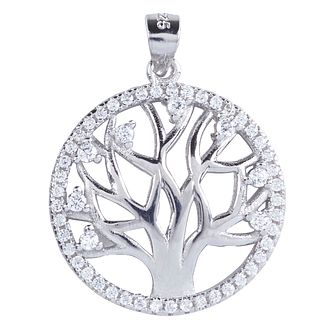 Cailin Sterling Silver Tree of Life Design Circle Pendant - Product number 4245776