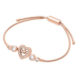 Michael Kors Ladies Rose Gold Tone Heart Adjustable Bracelet - Product number 4246853