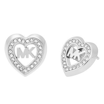 Michael Kors Ladies' Stone Set Heart Stud Earrings - Product number 4247051