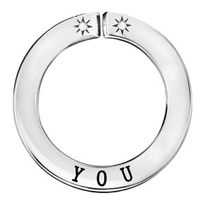 Lily & Lotty Silver Rhodium Plated 'You' Pendant - Product number 4247299