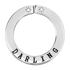 Lily & Lotty Silver Rhodium Plated 'Darling' Pendant - Product number 4247396