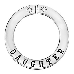 Lily & Lotty Silver Rhodium Plated 'Daughter' Pendant - Product number 4247469