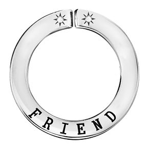 Lily & Lotty Silver Rhodium Plated 'Friend' Pendant - Product number 4248368