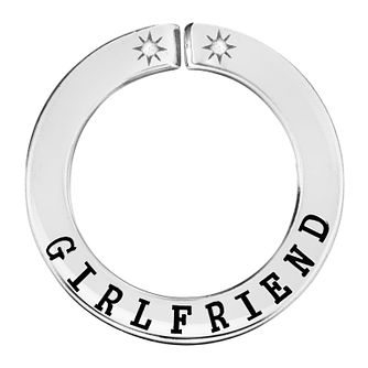 Lily & Lotty Silver Rhodium Plated 'Girlfriend' Pendant - Product number 4249305