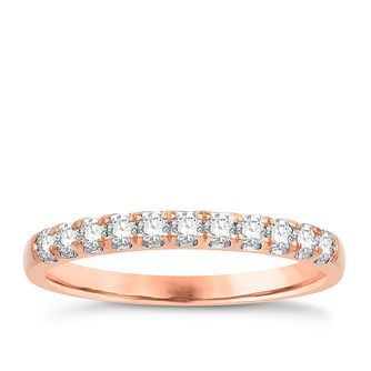 Eternal Brilliance 18ct Rose Gold 0.25ct Wedding Ring - Product number 4249836