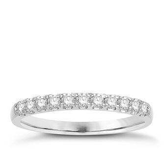 Eternal Brilliance 18ct White Gold 0.25ct Wedding Ring - Product number 4250427