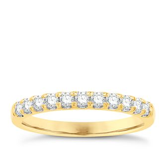 Eternal Brilliance 18ct Yellow Gold 0.33ct Wedding Ring - Product number 4255968