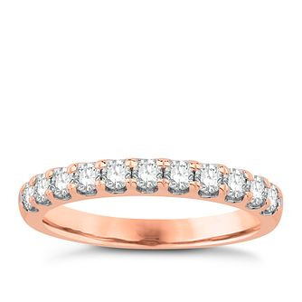 Eternal Brilliance 18ct Rose Gold 0.50ct Wedding Ring - Product number 4258002