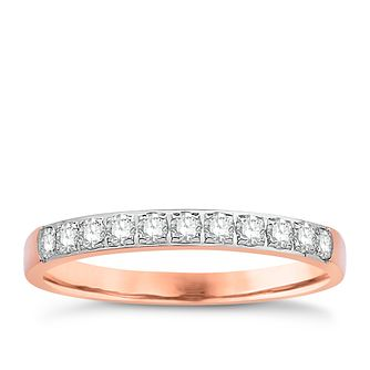 Eternal Brilliance 18ct Rose Gold 0.25ct Wedding Ring - Product number 4258878