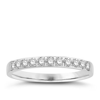 Eternal Brilliance 18ct White Gold 0.25ct Wedding Ring - Product number 4259270