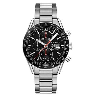 TAG Heuer Carrera Men's Black Chronograph Bracelet Watch - Product number 4264428