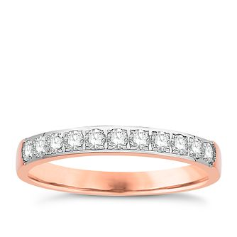 Eternal Brilliance 18ct Rose Gold 0.33ct Wedding Ring - Product number 4265548