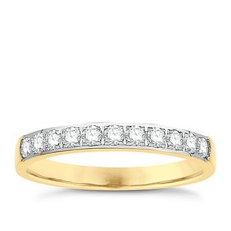 Eternal Brilliance 18ct Yellow Gold 0.33ct Wedding Ring - Product number 4266080