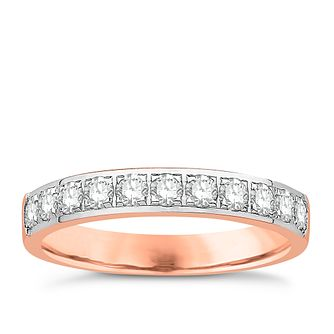 Eternal Brilliance 18ct Rose Gold 0.50ct Wedding Ring - Product number 4266331