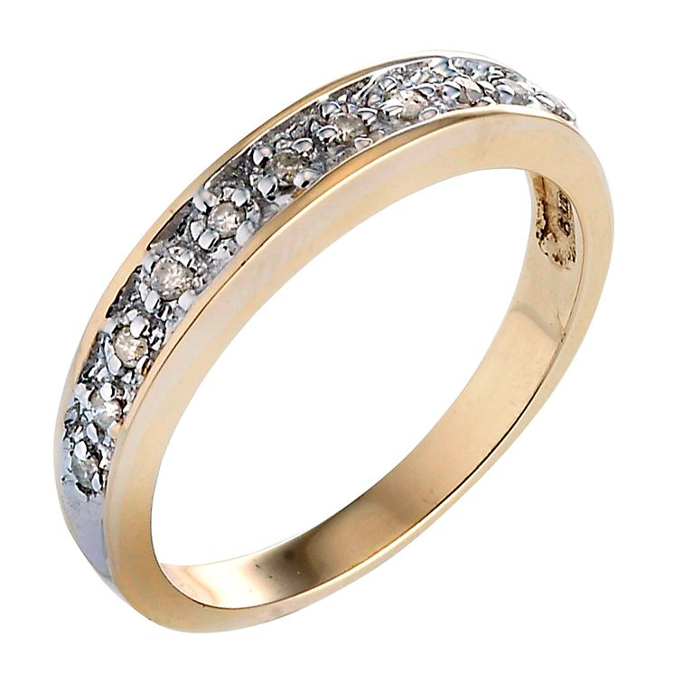 9ct Gold Diamond Ring - Product number 4267001