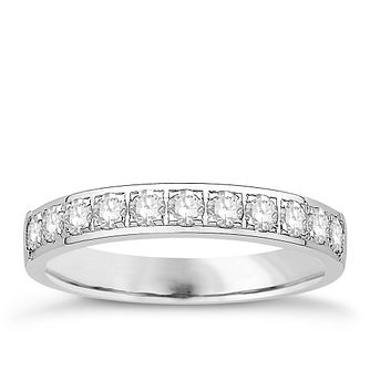 Eternal Brilliance 18ct White Gold 0.50ct Wedding Ring - Product number 4267834