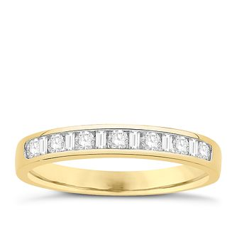 Eternal Brilliance 18ct Yellow Gold 0.25ct Wedding Ring - Product number 4270924