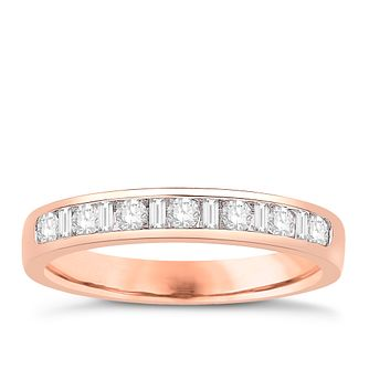 Eternal Brilliance 18ct Rose Gold 0.33ct Wedding Ring - Product number 4271475