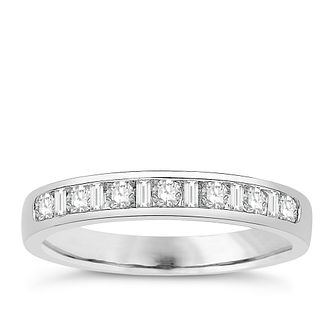 Eternal Brilliance 18ct White Gold 0.33ct Wedding Ring - Product number 4271637
