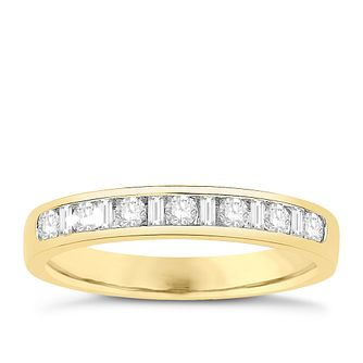 Eternal Brilliance 18ct Yellow Gold 0.33ct Wedding Ring - Product number 4272080